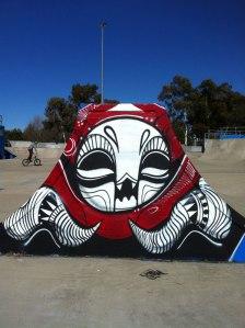 Graffii in Greenway skate park, Canberra