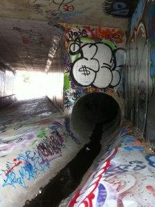 Graffiti tags in Woden's Callam Street, Canberra