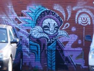 Abyss piece in Lonsdale Street Braddon