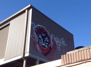 Graffiti at Lyneham shops, Canberra