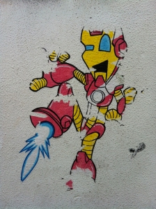 Iron Man stencil in Ainslie