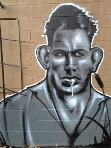 Graffiti behind ANCA Dickson