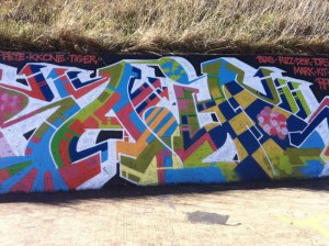 Graffiti in Chifley, Canberra