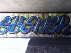 Graffiti in Greenway, Canberra