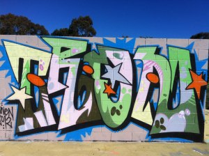 Graffiti blockbuster in Kambah